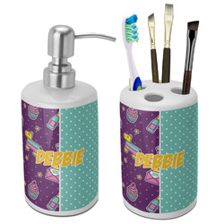Pinata Birthday Bathroom Accessories Set (Ceramic) (Personalized)