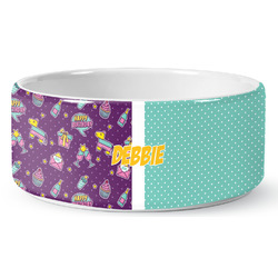 Pinata Birthday Ceramic Dog Bowl (Personalized)