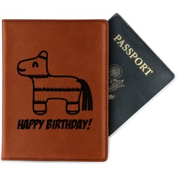 Pinata Birthday Leatherette Passport Holder (Personalized)