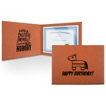 Pinata Birthday Leatherette Certificate Holder (Personalized)