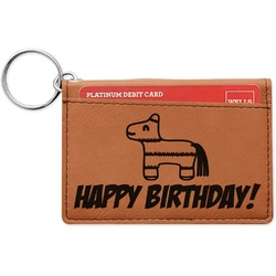 Pinata Birthday Leatherette Keychain ID Holder (Personalized)
