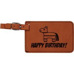 Pinata Birthday Leatherette Luggage Tag (Personalized)