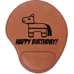 Pinata Birthday Leatherette Mouse Pad with Wrist Support (Personalized)