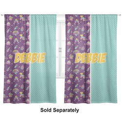 "Pinata Birthday Curtains - 40""x84"" Panels - Unlined (2 Panels Per Set) (Personalized)"