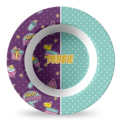 Pinata Birthday Plastic Bowl - Microwave Safe - Composite Polymer (Personalized)