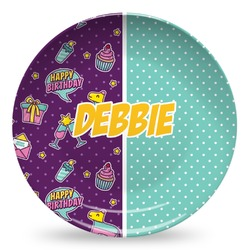 Pinata Birthday Microwave Safe Plastic Plate - Composite Polymer (Personalized)