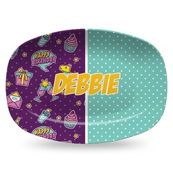 Pinata Birthday Plastic Platter - Microwave & Oven Safe Composite Polymer (Personalized)