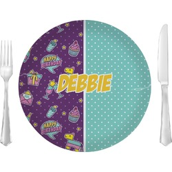 """Pinata Birthday 10"""" Glass Lunch / Dinner Plates - Single or Set (Personalized)"""