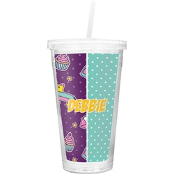 Pinata Birthday Double Wall Tumbler with Straw (Personalized)