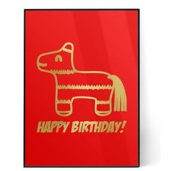 Pinata Birthday 5x7 Red Foil Print (Personalized)