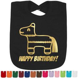 Pinata Birthday Foil Baby Bibs (Personalized)