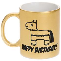 Pinata Birthday Gold Mug (Personalized)