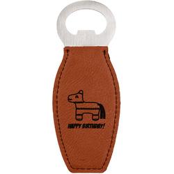 Pinata Birthday Leatherette Bottle Opener (Personalized)