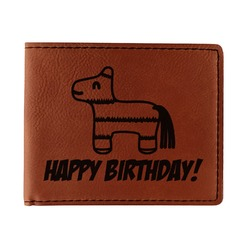 Pinata Birthday Leatherette Bifold Wallet (Personalized)