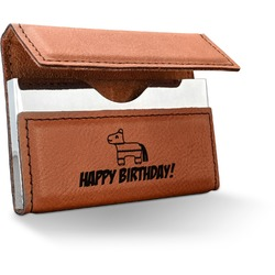 Pinata Birthday Leatherette Business Card Holder (Personalized)