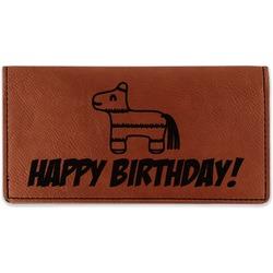 Pinata Birthday Leatherette Checkbook Holder (Personalized)