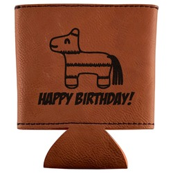 Pinata Birthday Leatherette Can Sleeve (Personalized)