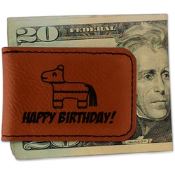 Pinata Birthday Leatherette Magnetic Money Clip (Personalized)