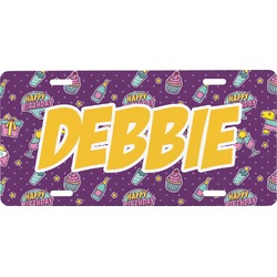 Pinata Birthday Front License Plate (Personalized)