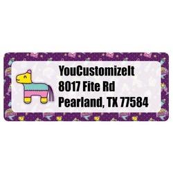 Pinata Birthday Return Address Labels (Personalized)