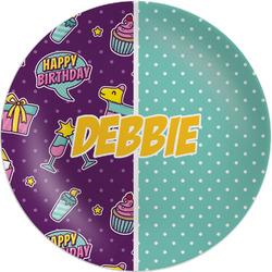 "Pinata Birthday Melamine Plate - 8"" (Personalized)"
