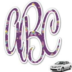 Pinata Birthday Monogram Car Decal (Personalized)