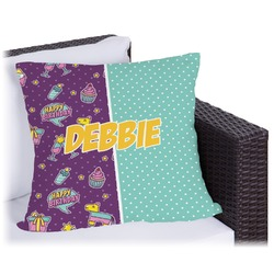 """Pinata Birthday Outdoor Pillow - 18"""" (Personalized)"""