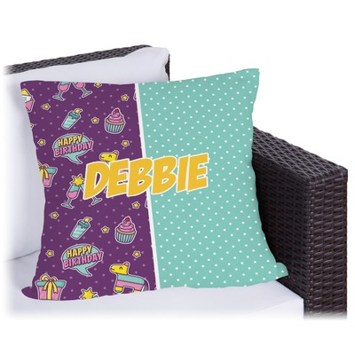 Pinata Birthday Outdoor Pillow (Personalized)