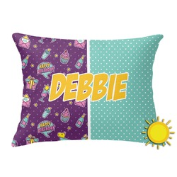 Pinata Birthday Outdoor Throw Pillow (Rectangular) (Personalized)