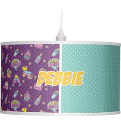 Pinata Birthday Drum Pendant Lamp (Personalized)