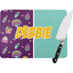 Pinata Birthday Rectangular Glass Cutting Board (Personalized)