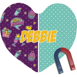 Pinata Birthday Heart Fridge Magnet (Personalized)