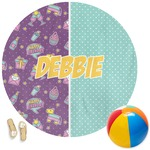 Pinata Birthday Round Beach Towel (Personalized)