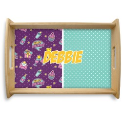 Pinata Birthday Natural Wooden Tray (Personalized)