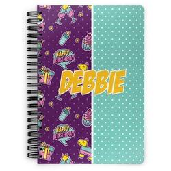 Pinata Birthday Spiral Notebook (Personalized)