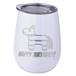 Pinata Birthday Stemless Wine Tumbler - 5 Color Choices - Stainless Steel  (Personalized)