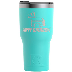 Pinata Birthday RTIC Tumbler - Teal - Engraved Front (Personalized)