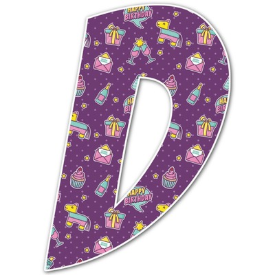Pinata Birthday Letter Decal - Custom Sizes (Personalized)