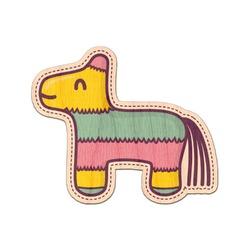 Pinata Birthday Genuine Wood Sticker (Personalized)