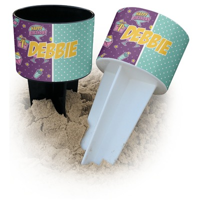 Pinata Birthday Beach Spiker Drink Holder (Personalized)
