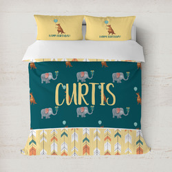 Animal Friend Birthday Duvet Cover (Personalized)
