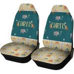 Animal Friend Birthday Car Seat Covers (Set of Two) (Personalized)