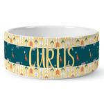Animal Friend Birthday Ceramic Dog Bowl (Personalized)