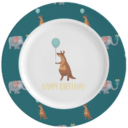 Animal Friend Birthday Ceramic Dinner Plates (Set of 4) (Personalized)