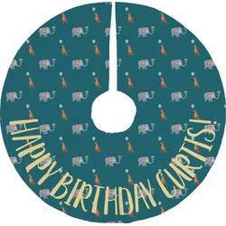 Animal Friend Birthday Tree Skirt (Personalized)