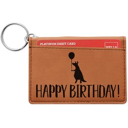 Animal Friend Birthday Leatherette Keychain ID Holder (Personalized)