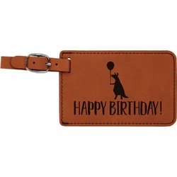 Animal Friend Birthday Leatherette Luggage Tag (Personalized)