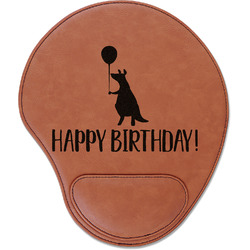 Animal Friend Birthday Leatherette Mouse Pad with Wrist Support (Personalized)