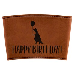 Animal Friend Birthday Leatherette Cup Sleeve (Personalized)