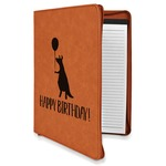 Animal Friend Birthday Leatherette Zipper Portfolio with Notepad (Personalized)